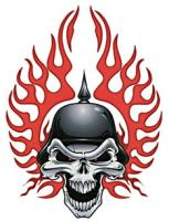 Lethal Threat Biker Skull Decal