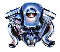 Lethal Threat Chrome Engine Head Decal