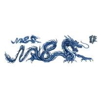 Lethal Threat Decal: Blue Dragon, Right 3