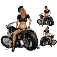 Lethal Threat Bobber Motorcycle Girl Decal