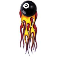 Lethal Threat Flaming 8-Ball Decal