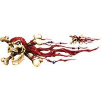 Lethal Threat Left Skull Pirate Decal