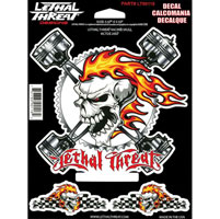 Lethal Threat Lethal Threat Racing Skull Decal