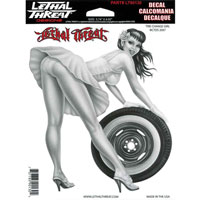 Lethal Threat Tire Change Girl Decal
