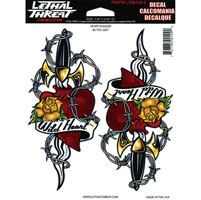 Lethal Threat Heart/Dagger Decal