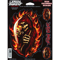 Lethal Threat Flaming Reaper Decal