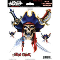 Lethal Threat Pirate Skull Decal