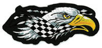Lethal Threat Left Checkered Eagle Mini Patch