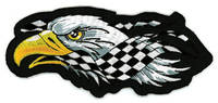 Lethal Threat Right Checkered Eagle Mini Patch