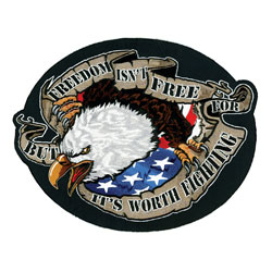 Lethal Threat Large Freedom Eagle Patch