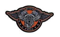 Ride Free Embroidered Patch