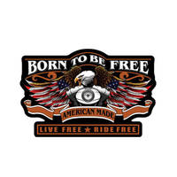 Born to be Free Embroidered Patch