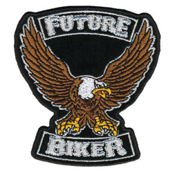 Future Biker Embroidered Patch