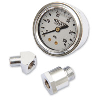 Drag Specialties 0-100 PSI White Face Oil Gauge Kit