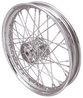Replica 40 Spoke Star Hub Chrome Front/Rear Wheel, 18 x 2.15