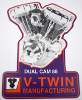 V-Twin Brand Motor Plaque