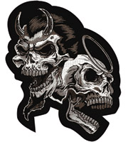 Lethal Threat Devil/Angel Skull Patch
