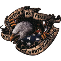 Lethal Threat Freedom Isn't Free Eagle Decal
