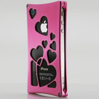 Wicked Metal Jacket Pink Heartbreaker Case for iPhone 4