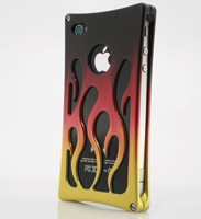 Wicked Metal Jacket Billet Hot Rod iPhone 4 Faded 3 Color Case