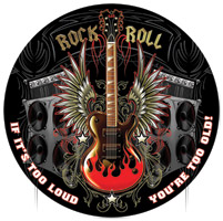 Lethal Threat Rock and Roll Metal Sign