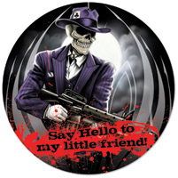 Lethal Threat Skull Gangster Metal Sign
