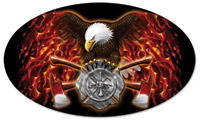 Lethal Threat FD Eagle Metal Sign