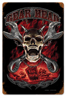 Lethal Threat Gearhead Metal Sign