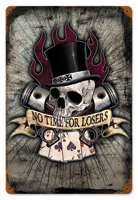 Lethal Threat No Time For Losers Metal Sign