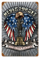 Lethal Threat Fallen Heroes Metal Sign