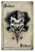Lethal Threat Jester Colors Metal Sign