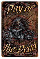 Lethal Threat Day Of The Dead Metal Sign