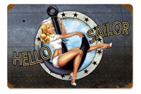 Lethal Threat Hello Sailor Metal Sign