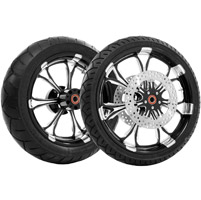 Performance Machine Paramount Contrast Cut Platinum Front & Rear Wheel Package with ABS