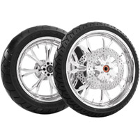 Performance Machine Paramount Chrome Front & Rear Wheel Package, without ABS