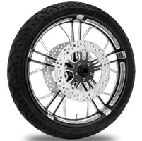 Performance Machine Dixon Contrast Cut Platinum Front Wheel Package, 21″ x 3.5 WO/ABS