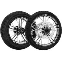 Performance Machine Dixon Contrast Cut Platinum Front & Rear Wheel Package, W/O ABS