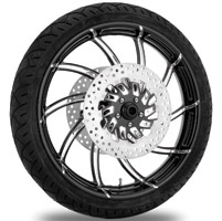 Performance Machine Supra Contrast Cut Platinum Front Wheel Package, 21″ x 3.5 with ABS