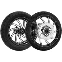 Performance Machine Supra Contrast Cut Platinum Front & Rear Wheel Package, W/O ABS