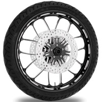 Performance Machine Heathen Contrast Cut Platinum Front Wheel Package, 21″ x 3.5 WO/ABS