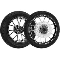 Performance Machine Heathen Contrast Cut Platinum Front & Rear Wheel Package with ABS