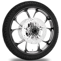 Performance Machine Luxe Contrast Cut Platinum Front Wheel Package, 21″ x 3.5 with ABS