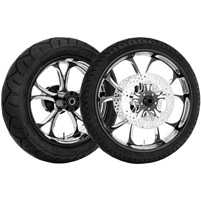 Performance Machine Luxe Contrast Cut Platinum Front & Rear Wheel Package, W/O ABS