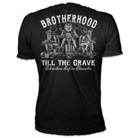 Lethal Threat Brotherhood Till the Grave Black T-shirt