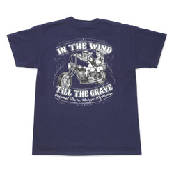 Lethal Threat In the Wind Navy T-shirt
