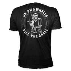 Lethal Threat On Two Wheels Black T-shirt
