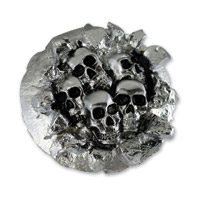 American Cycle Accessories 5 Skulls Bursting Out Gas Cap Cover