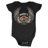 J&P Cycles® Mommy's Lil' Wings Black Onesie