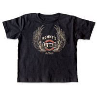 J&P Cycles® Mommy's Lil' Wings Black Toddler Tee