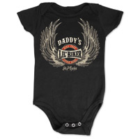 J&P Cycles® Daddy's Lil' Wings Black Onesie